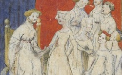 Figure de l'humanisme français: Christine de Pizan a rédigé des poèmes, des traités philosophiques, politiques, et militaires  Livredestroisjugemens_fr.12779