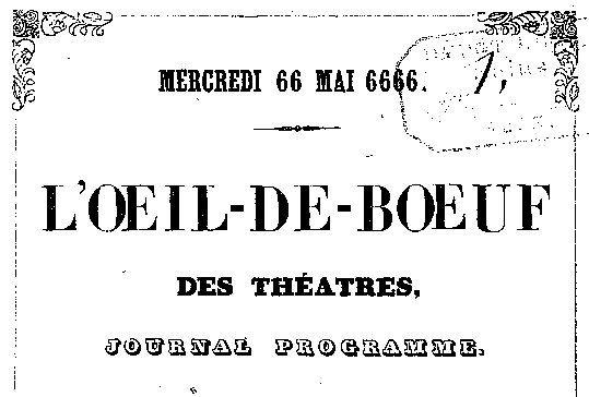 """Accéder à la page """"Oeil-de-boeuf des théâtres (L') """""""