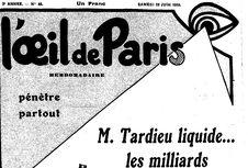publication disponible de 1928 à 1934