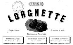 """Accéder à la page """"Lorgnette (La) : Journal des théâtres"""""""