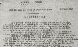 """Accéder à la page """"Libérer. Fédérer. Edition spéciale pour le Tarn-et-Garonne"""""""