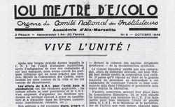 """Accéder à la page """"Lou Mestre d'Escolo"""""""