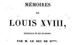 """Accéder à la page """"Louis XVIII, Mémoires"""""""