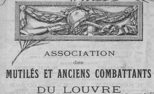 """Accéder à la page """"Bulletin annuel des mutilés et anciens combattants du Louvre """""""