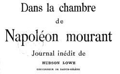 """Accéder à la page """"Lowe, sir Hudson, Journal inédit"""""""