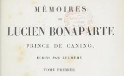 """Accéder à la page """"Lucien Bonaparte, Mémoires"""""""