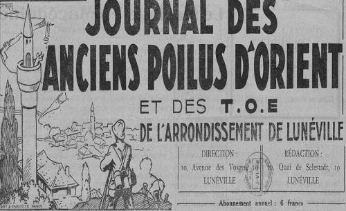 """Accéder à la page """"Journal des Anciens poilus d'Orient et des TOE (Meurthe-et-Moselle)"""""""