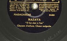 """Accéder à la page """"Mazava : Il fait clair à l'est : chant d'enfants ; Ohay lahyé : Ohé, amis! : chanson d'enfants / Choeurs malgaches"""""""