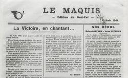 """Accéder à la page """"Maquis du Sud est (Le)"""""""