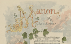 [Enregistrements sonores] / Manon : [estampe], 1884 - source : gallica.bnf.fr / BnF