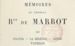 """Accéder à la page """"Marbot, général baron de, Mémoires"""""""