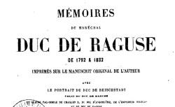 """Accéder à la page """"Marmont, maréchal, Mémoires"""""""