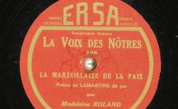 Disque SD 78 30-9273 - Madeleine Roland est une comédienne française née en 1929 - source : BnF/gallica.bnf.fr