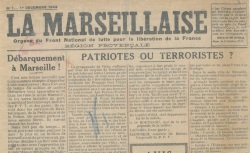 """Accéder à la page """"Marseillaise (La) (région provençale)"""""""