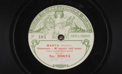 """Marta [Martha]. Romanza : """"M'appari tutt' amor"""" ; Flotow, comp. ; Alessandro Bonci, ténor ; acc. de piano - source : gallica.bnf.fr / BnF"""