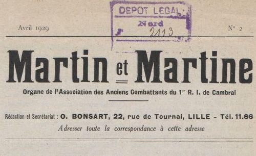 """Accéder à la page """"Martin et Martine"""""""