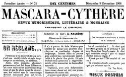 "Accéder à la page ""Mascara-Cythère"""