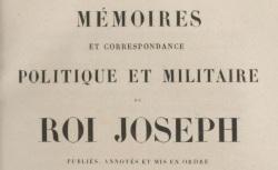 """Accéder à la page """"Joseph, Mémoires du roi (1795-1844)"""""""