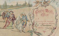 Repas du mariage de Monsieur et Madame Toussaint. 1893