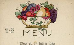 Dîner. Indre-et-Loire. 1er juillet 1922