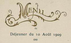 Déjeuner. Bléré. 10 août 1909.