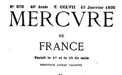 """Accéder à la page """"Mercure de France (Le)"""""""