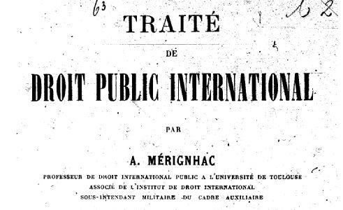 Mérignhac, Alexandre (1857-1927)