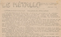 """Accéder à la page """"Métallo (Le) (zone sud)"""""""