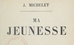 """Accéder à la page """"Michelet, Ma jeunesse"""""""