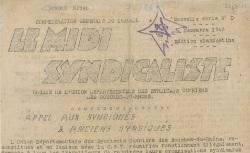 """Accéder à la page """"Midi syndicaliste (Le) (Marseille)"""""""