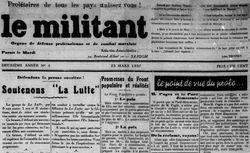 """Accéder à la page """"Militant (Le)"""""""