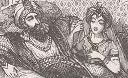 Les Mille et Une Nuits des familles : contes arabes, traduits par Antoine Galland, illustrés par MM. Français, H. Baron, Ed. Wattier, Laville, etc.