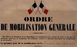 """Accéder à la page """"La mobilisation générale (août 1914)"""""""