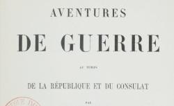 """Accéder à la page """"Moreau de Jonnès, Aventures de guerre"""""""