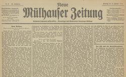 """Accéder à la page """"Neue Mülhauser Zeitung"""""""