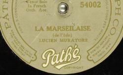 Disque SD 78 30-6108 - Lucien Muratore (1876-1954) est un artiste lyrique (ténor) de l'Opéra-comique puis de l'Opéra de Paris - source : BnF/gallica.bnf.fr