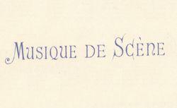 """Accéder à la page """"Musique de scène"""""""