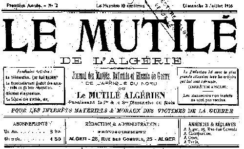 """Accéder à la page """"Mutilé de l'Algérie (Le)"""""""