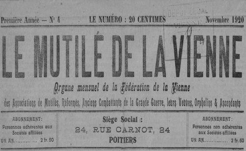 """Accéder à la page """"Mutilé de la Vienne (Le)"""""""