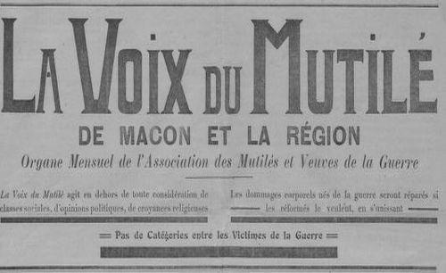 """Accéder à la page """"Voix du Mutilé de Mâcon et de la région (La)"""""""