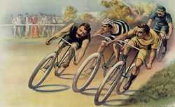 Coureurs cyclistes : [affiche sans lettre]