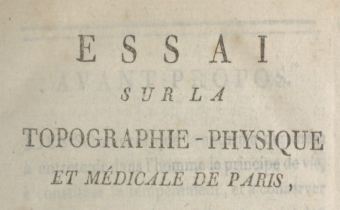 """Accéder à la page """" Essai sur la topographie physique et médicale de Paris - 1793"""""""