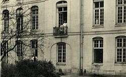 Ancienne maison de l'Enfant-Jésus, hôpital des enfants malades : les anciens bâtiments sur le jardin