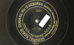 Herders, hij is geboren (Bergers, il est né) : kerstlied / Wognum Koor, choeur sans accompagnement ; Jacob Kwast, comp. - source : BnF/gallica.bnf.fr