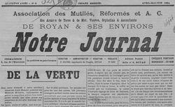 """Accéder à la page """"Notre journal (Royan)"""""""
