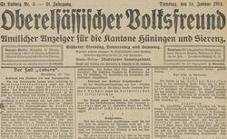 """Accéder à la page """"Oberelsässischer Volksfreund"""""""