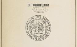 """Accéder à la page """"L'Académie des sciences et lettres de Montpellier"""""""