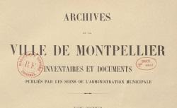 """Accéder à la page """"Archives de la Ville de Montpellier"""""""