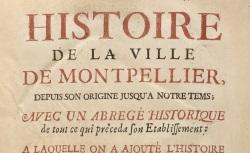 """Accéder à la page """"Histoire de Montpellier"""""""