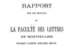 """Accéder à la page """"La Faculté des Lettres de l'Université de Montpellier"""""""